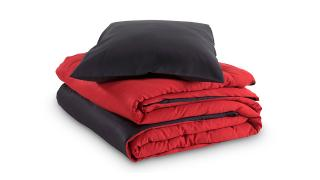 overtrek bicolor sleeplife superior rood antraciet